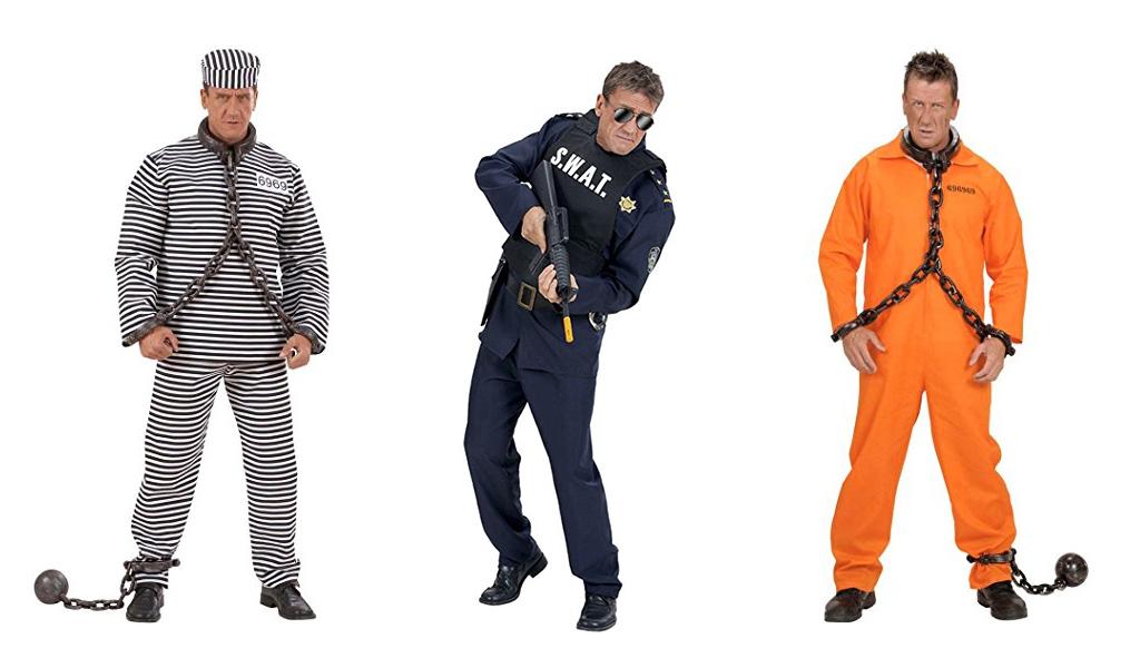 Kostüm Junggesellenabschied – Sträfling & SWAT Team